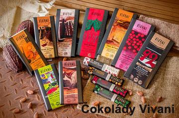 Čokolády tabulkové Vivani